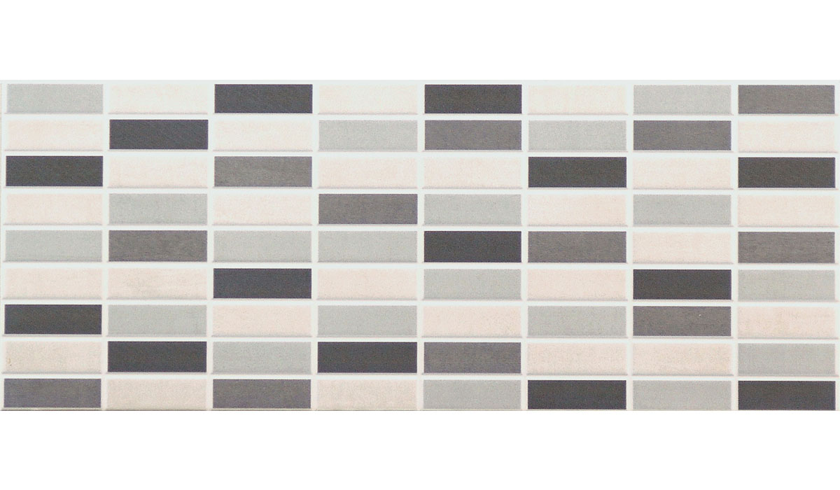 City-Mosaico Mix Grigio-20x50