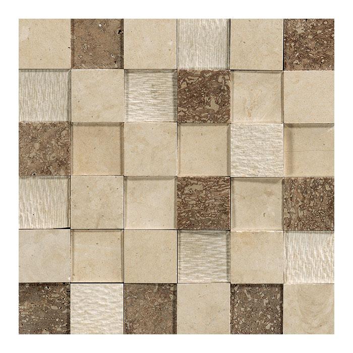 Egeo mosaico 3D beige 30x30