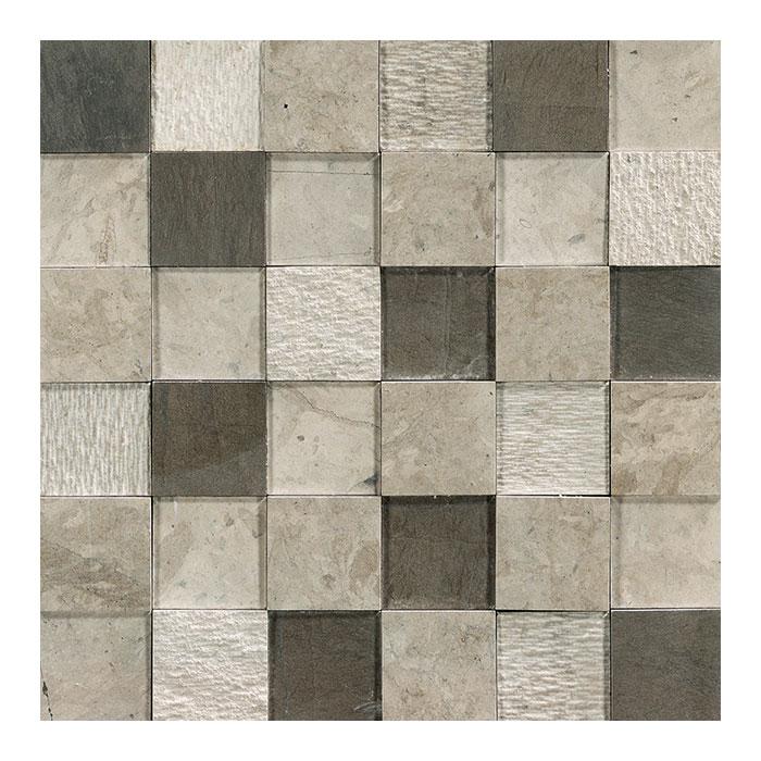Egeo mosaico 3D grigio 30x30